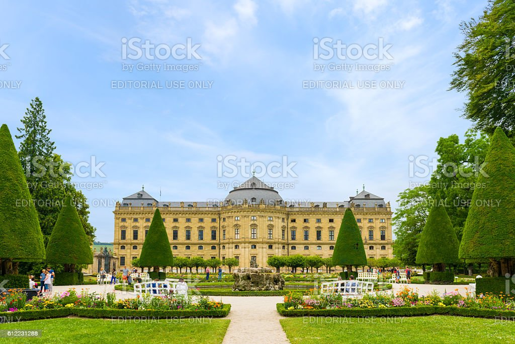 The Residence complex of Wurzburg, Germany stock photo