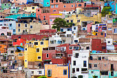 The residential Housing of Guanajuato, Mexico