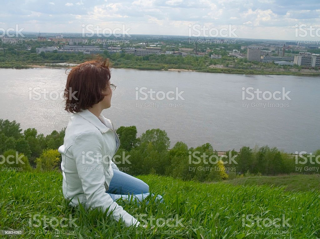 the rest on declivity royalty-free stock photo