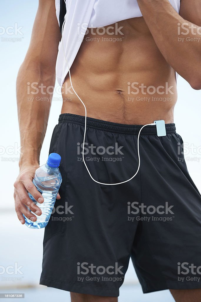 The result of a powerful workout royalty-free stock photo