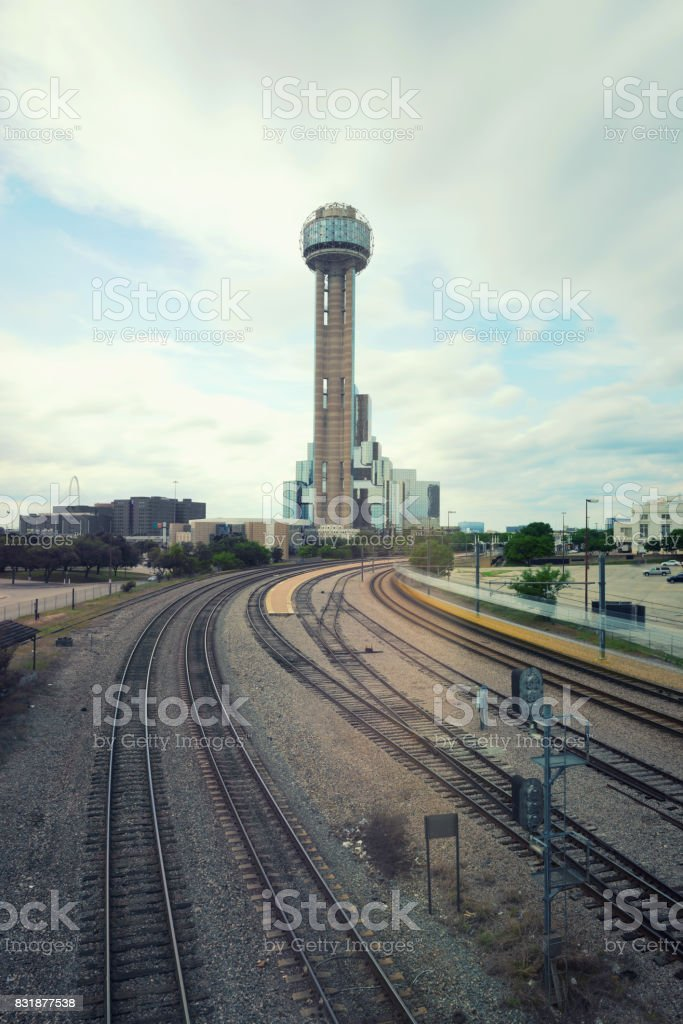 The Reunion Tower in Dallas, Texas, USA stock photo