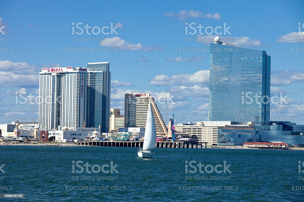 The Revel,  Showboat and Taj Mahal Casino in Atlantic City stock photo