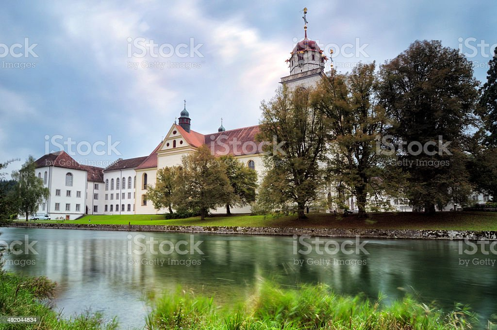 The Rheinau Monastery church stock photo