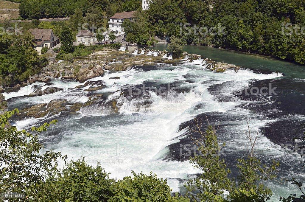The Rheinfalls at Schaffhausen, Switzerland stock photo