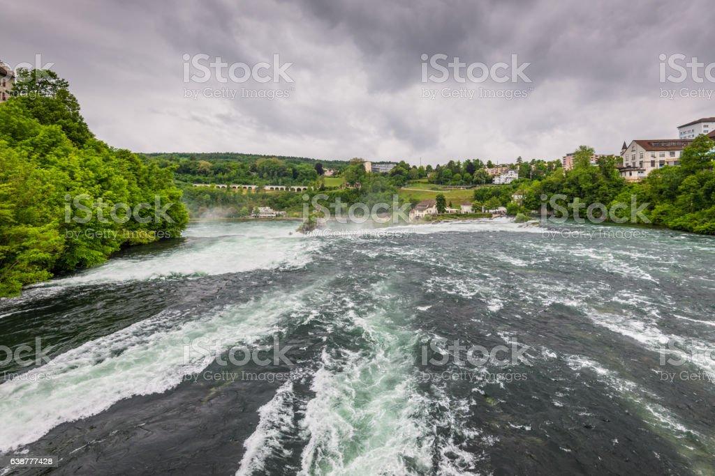 The Rhine Falls in Neuhausen am Rheinfall, Schaffhausen, Switzer stock photo