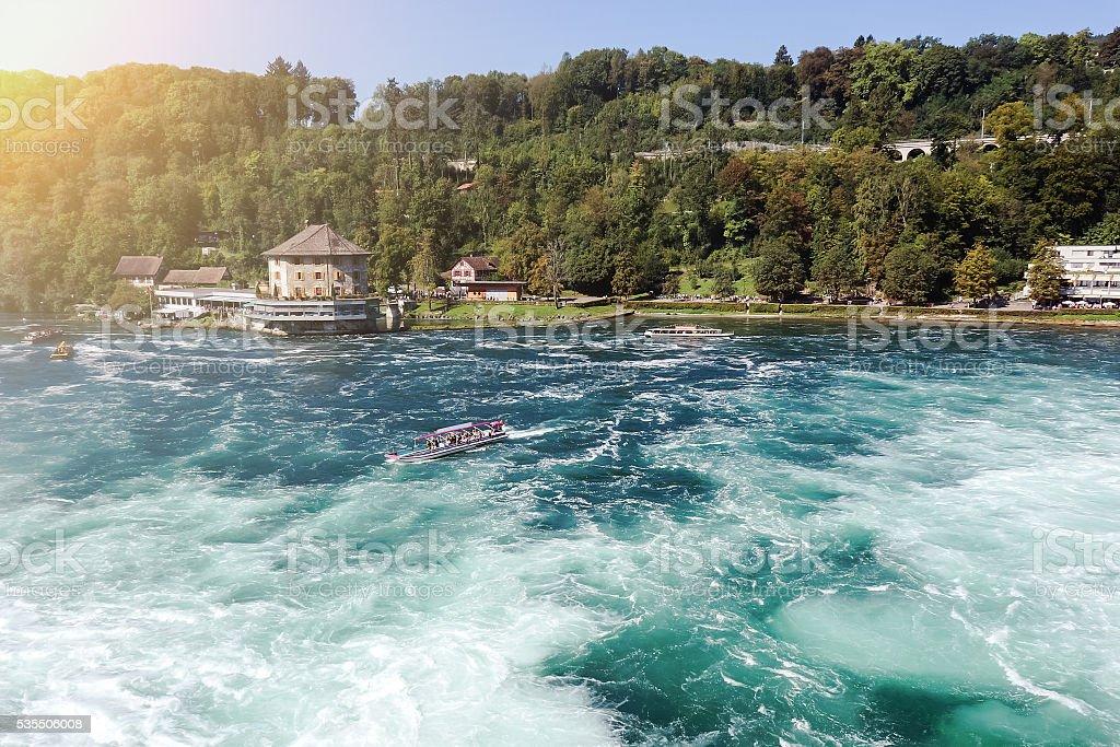 The Rhine Falls in Schaffhausen foto de stock royalty-free