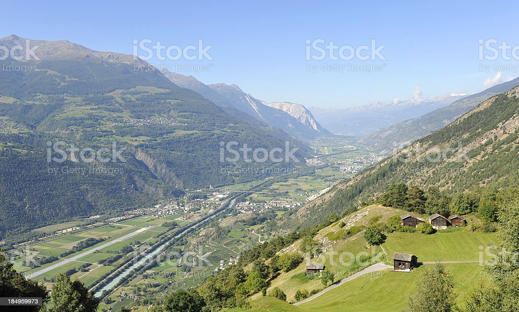 The Rhône Valley royalty-free stock photo