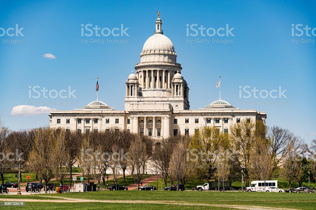 The Rhode Island State House stock photo