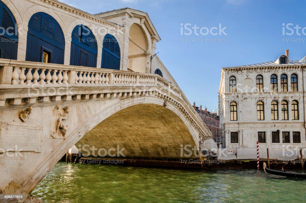 the rialto bridge in venice stock photo