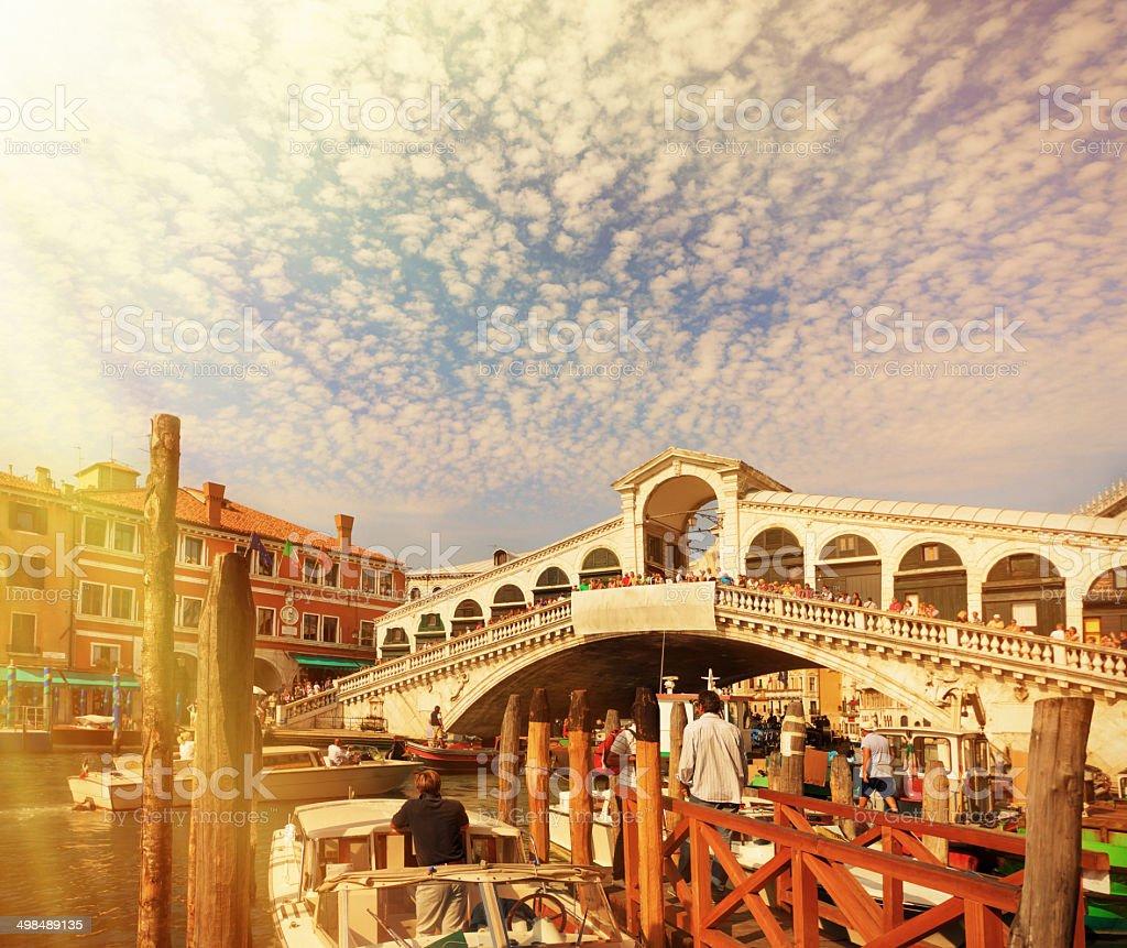 The Rialto Bridge - Venice royalty-free stock photo