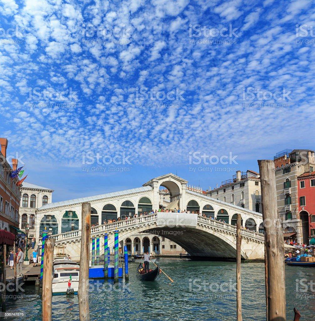 The Rialto Bridge - Venice stock photo