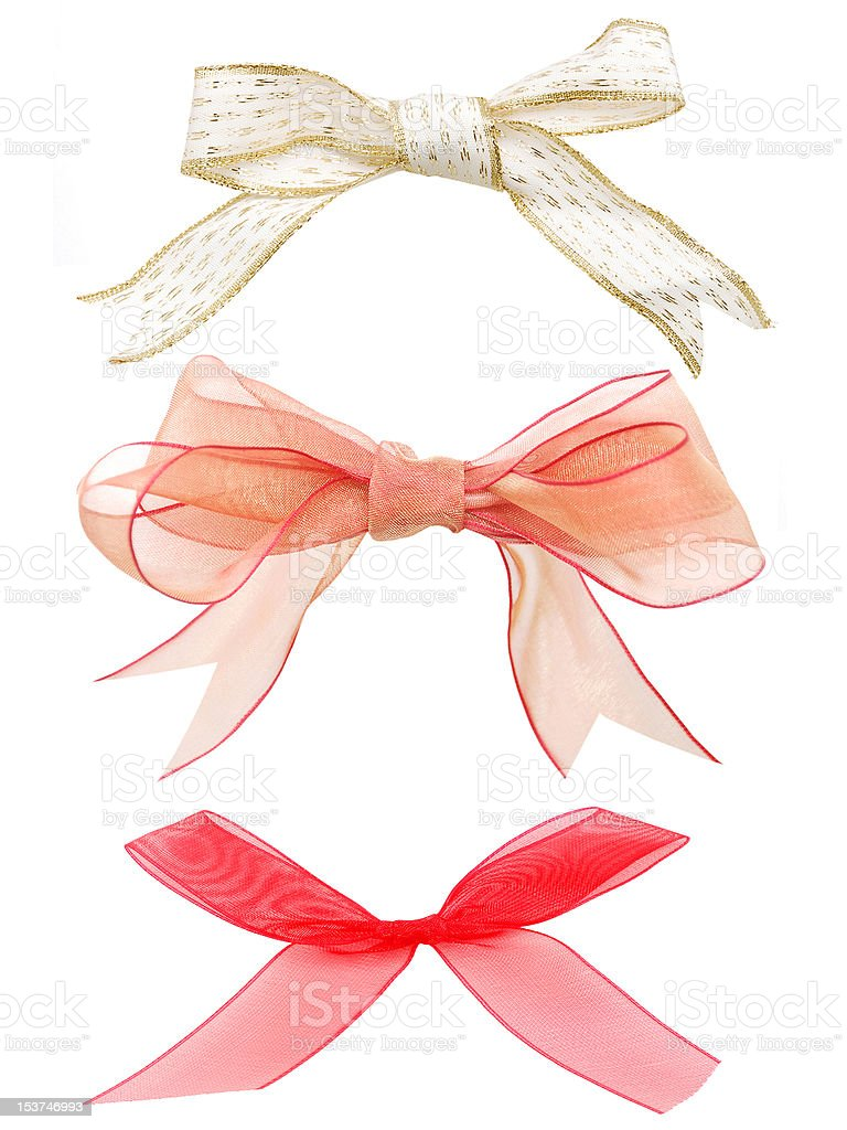 the ribbon bows collection stock photo
