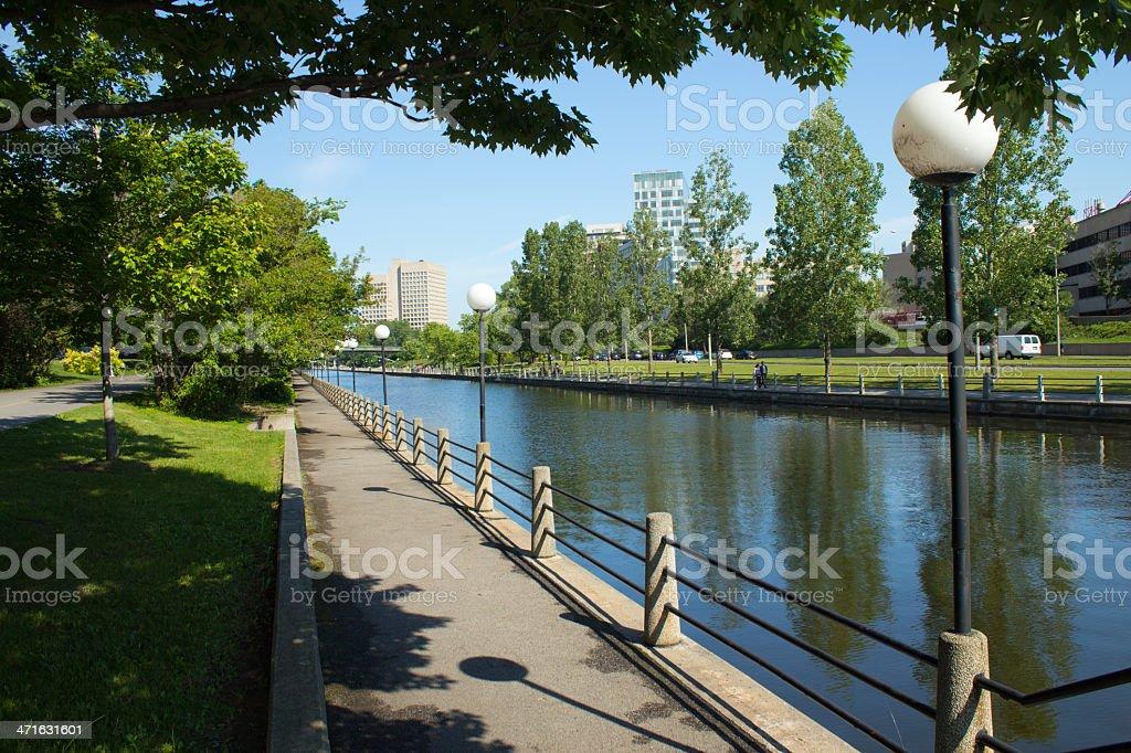 The Rideau Canal in Ottawa, Canada stock photo