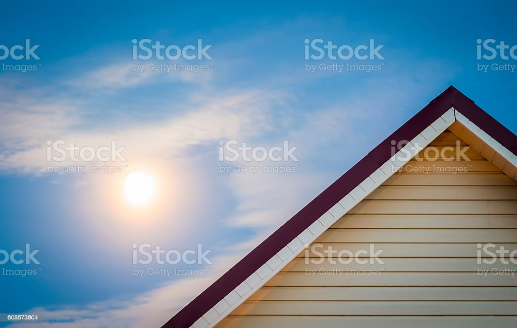 The ridge of the house. stock photo