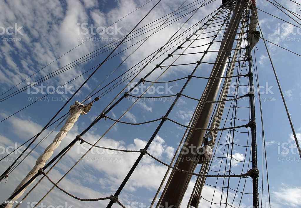 The Rigging royalty-free stock photo