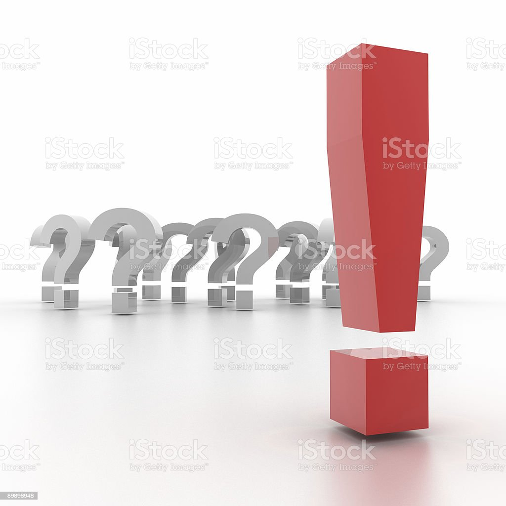 The right answer royalty-free stock photo
