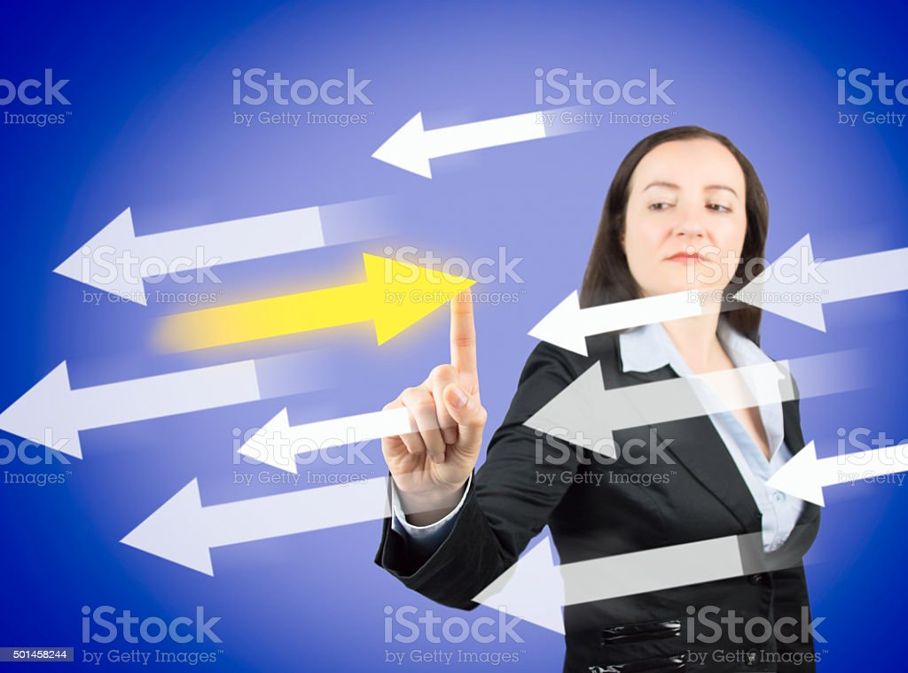 The right choice goes against stock photo