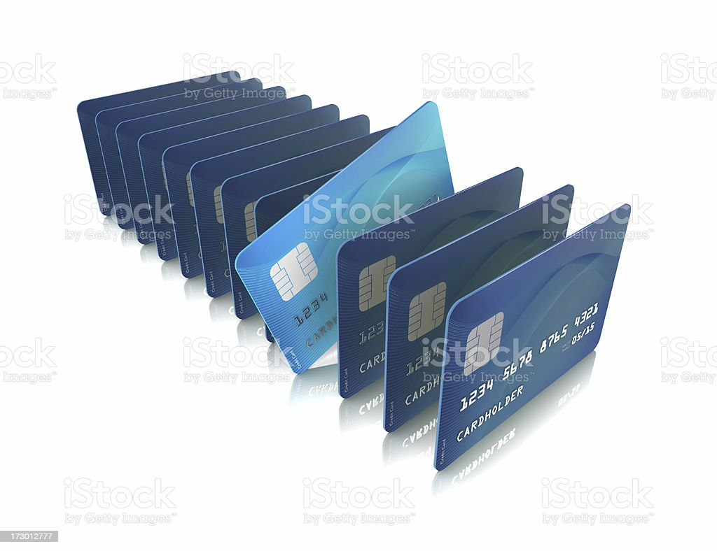 The right credit card royalty-free stock photo
