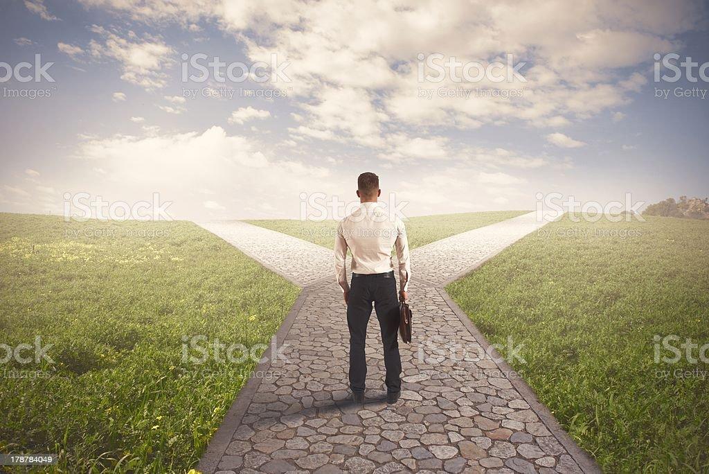 The right destination stock photo