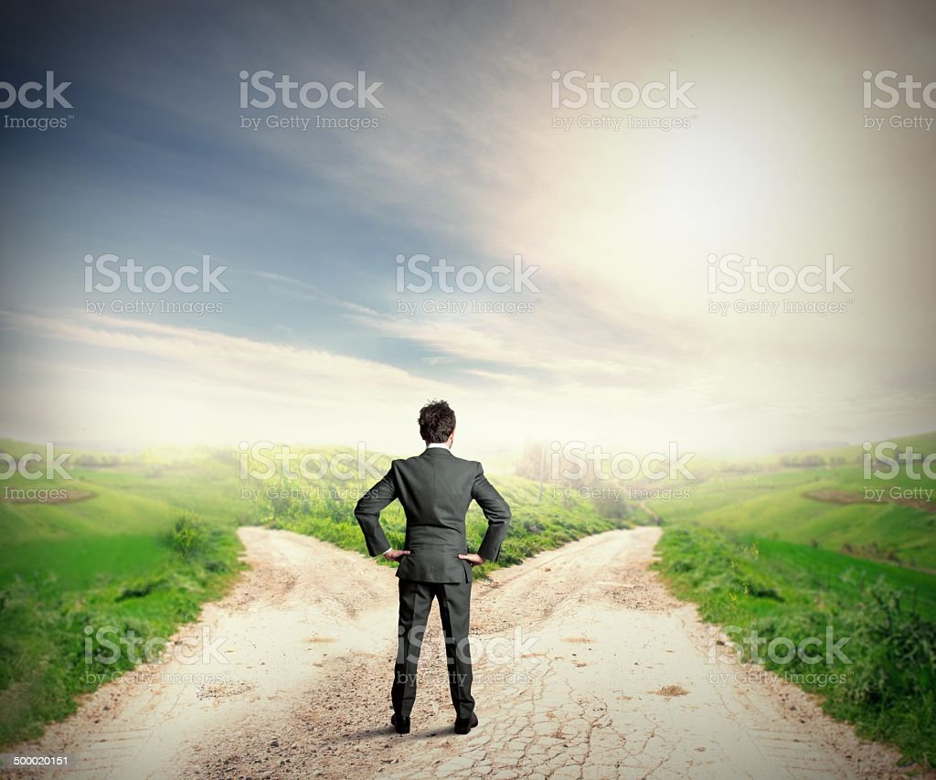 The right destination stock photo
