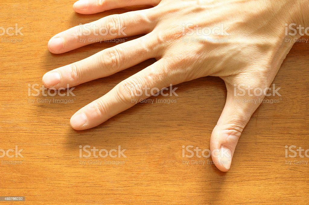 The right hand of the 40s-50s of women stock photo