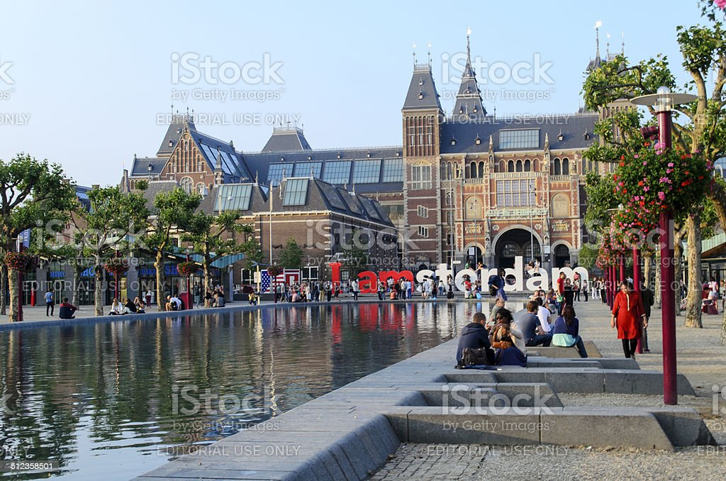 The Rijksmuseum in Amsterdam stock photo