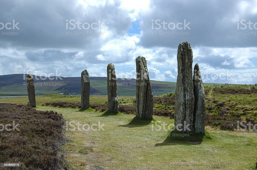 The Ring of Brodgar Standing stones - Orkney, Scotland, UK stock photo