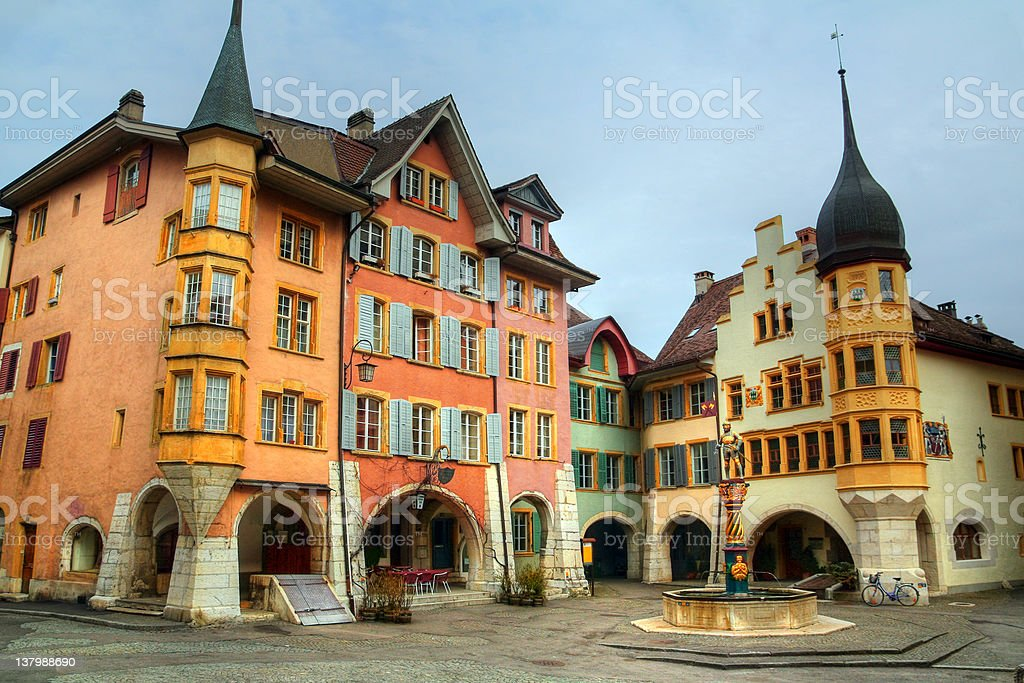 The Ring Square, Biel (Bienne), Switzerland stock photo