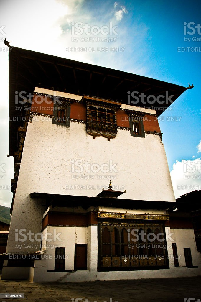 The Rinpung Dzong Fort, Paro, Bhutan stock photo