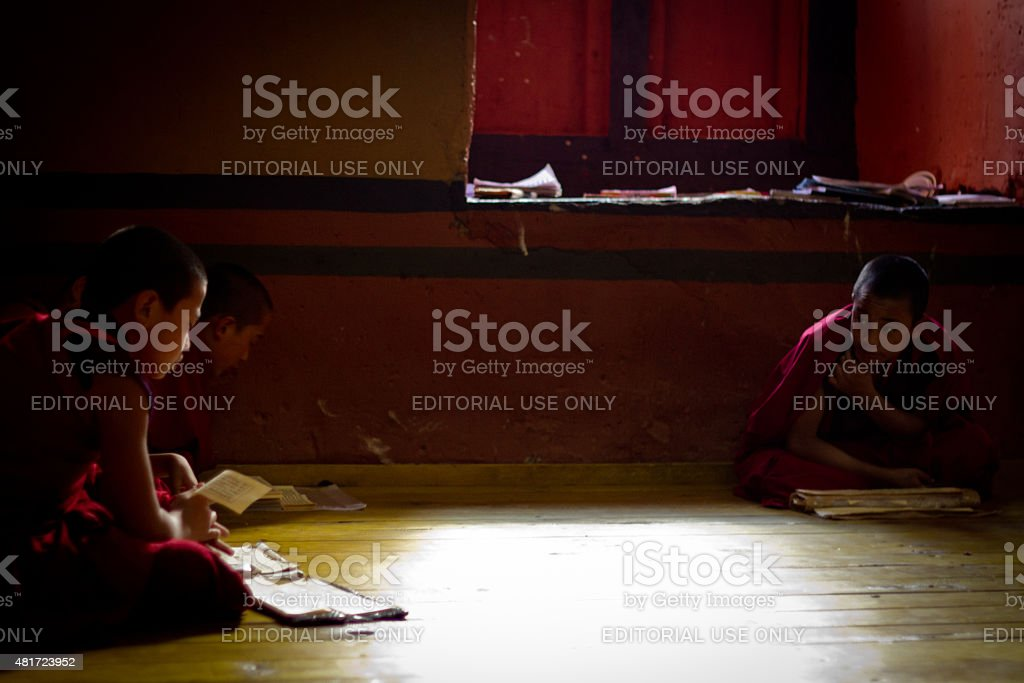The Rinpung Dzong Fortress Monastery school for monks, Paro, Bhu stock photo