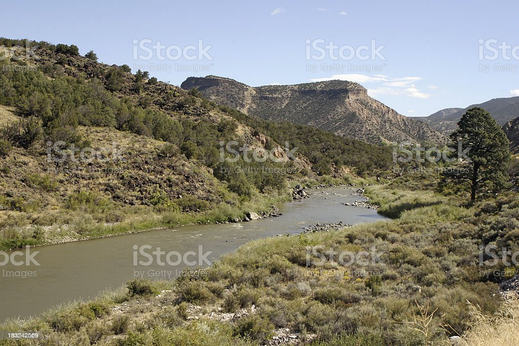 The Rio Grande stock photo
