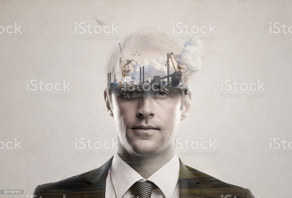 The rise and fall of the human empire stock photo