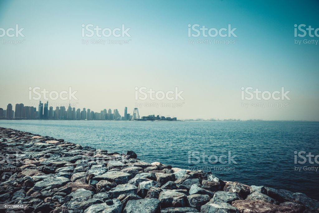 The Rise of a Nation from the shores of Arabian Sea stock photo