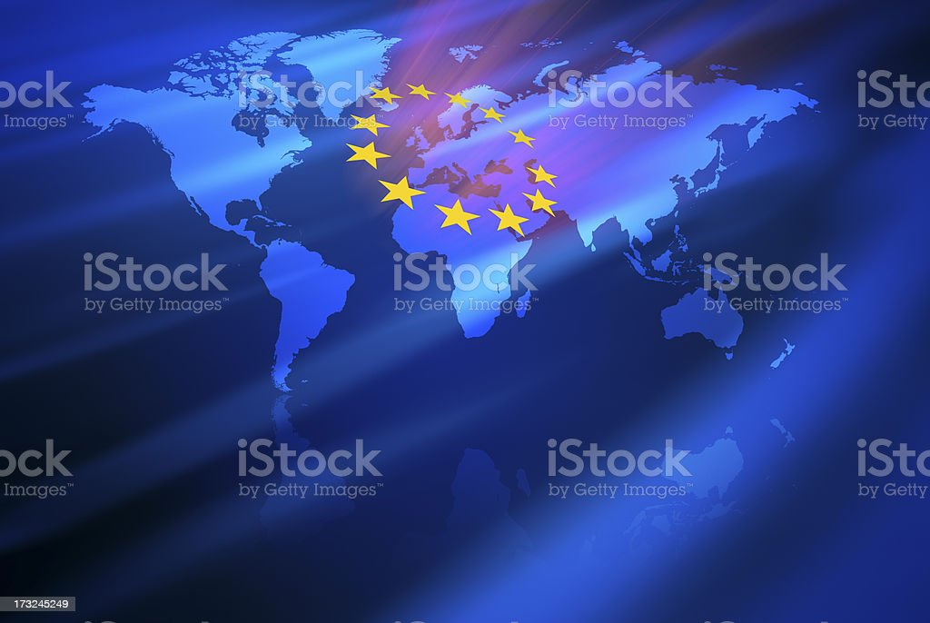 The Rising European Community royalty-free stock photo