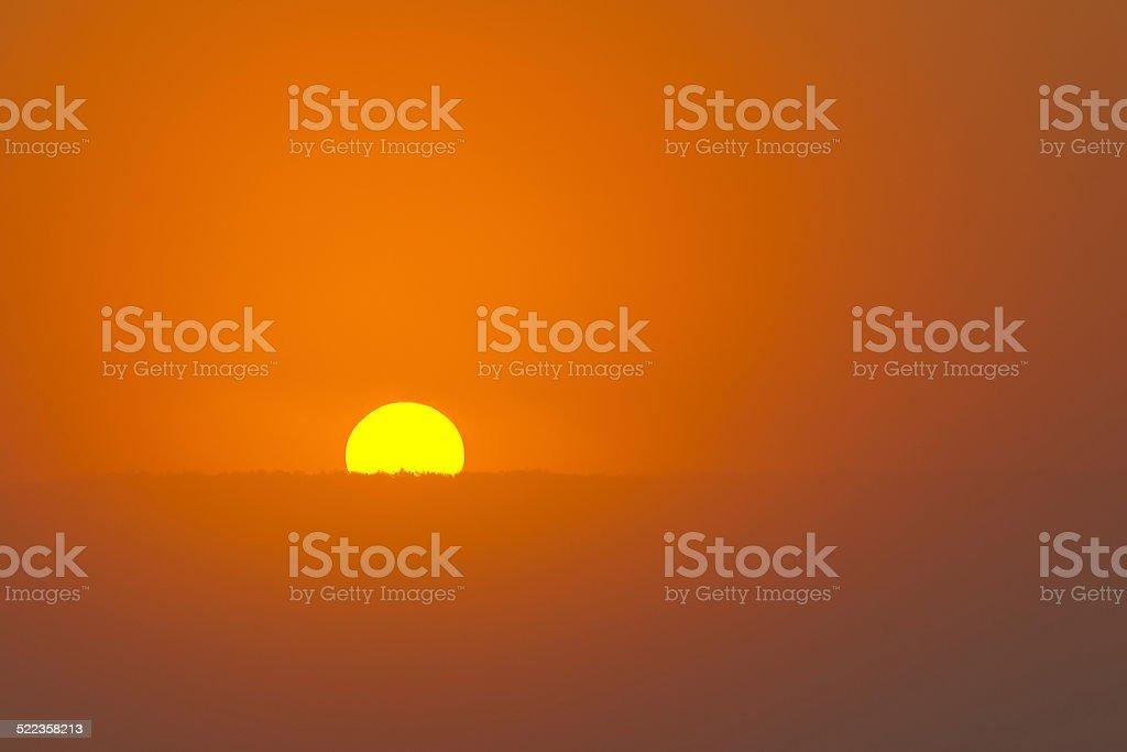 The Rising Sun stock photo