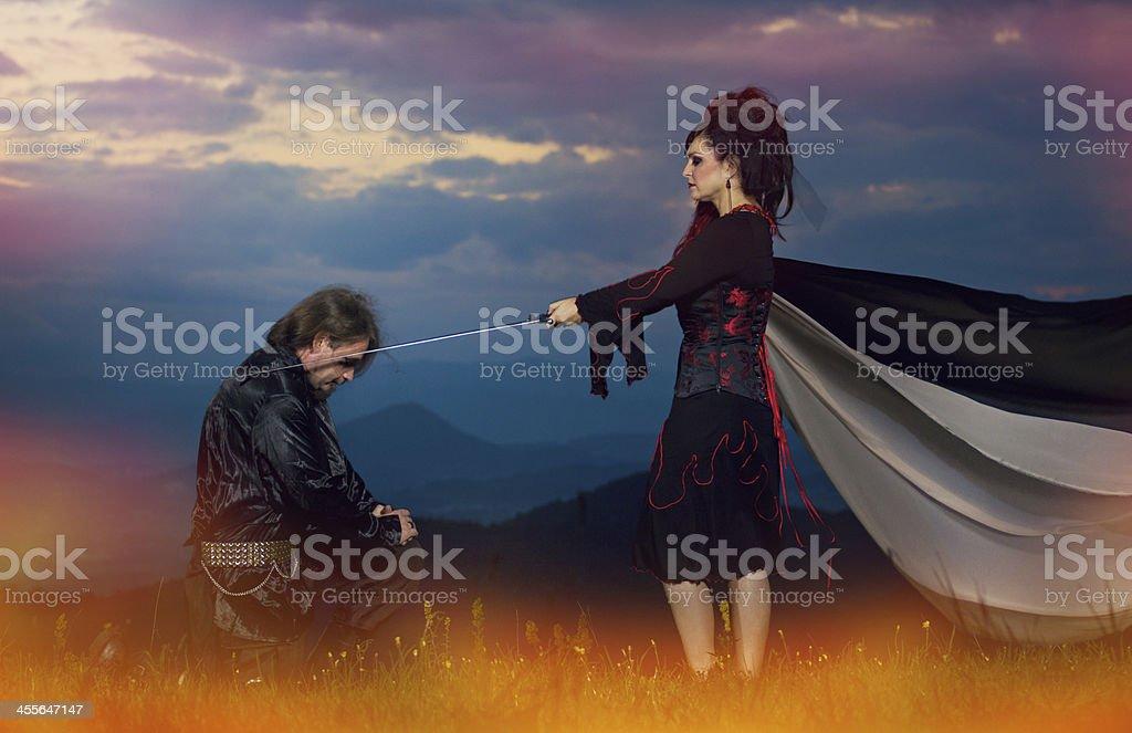 The rite of passage stock photo