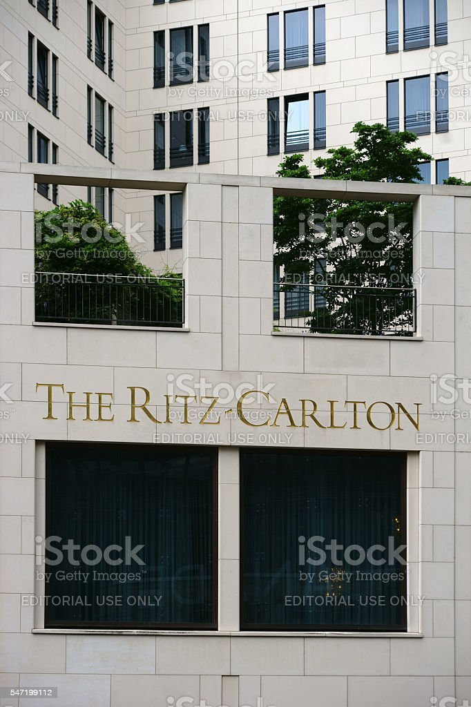 The Ritz Carlton Berlin stock photo