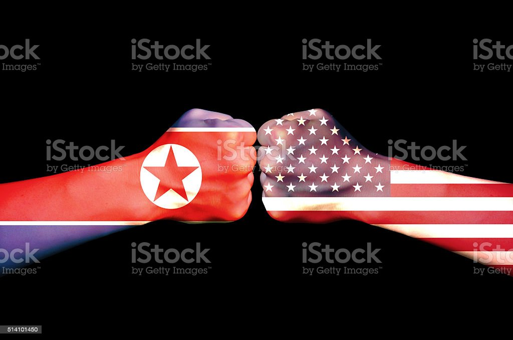 The rivalry between the two countries stock photo