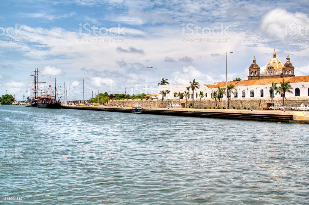 The river at Cartagena stock photo