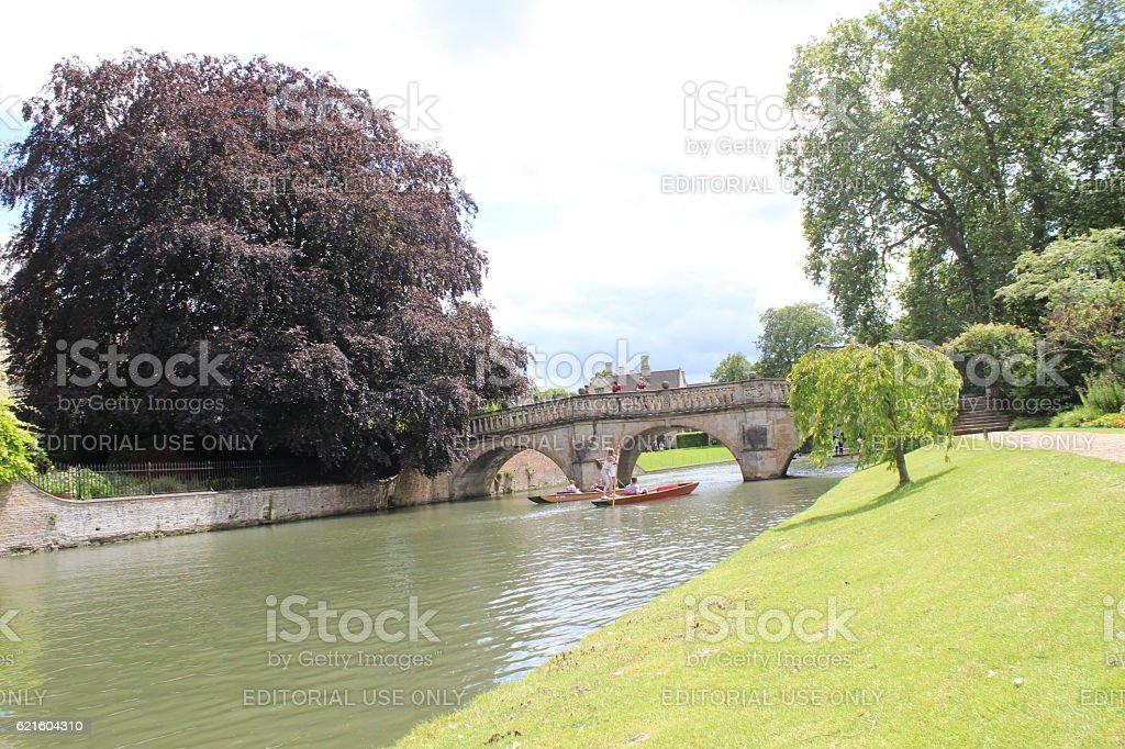 The river Cam, Cambridge, England, stock photo