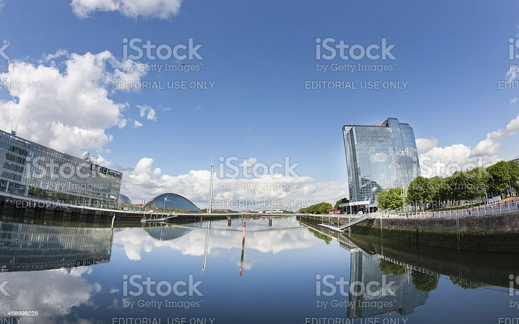 The River Clyde, Glasgow stock photo