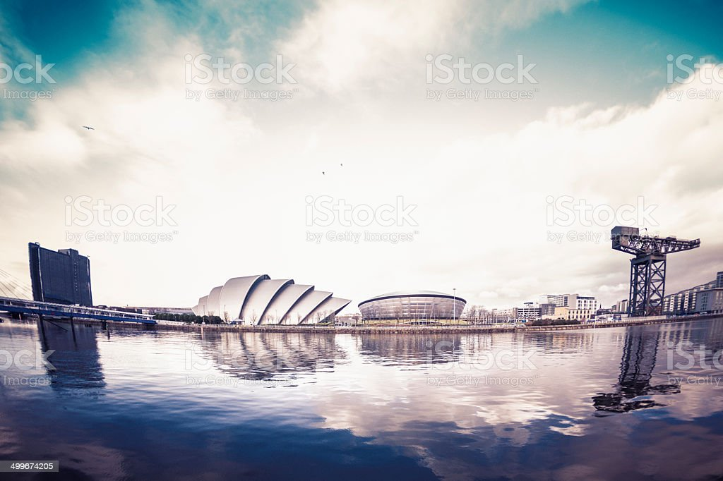 The River Clyde, Glasgow royalty-free stock photo