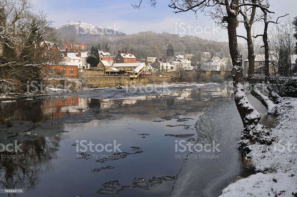 The River Dee and Llangollen Station royalty-free stock photo