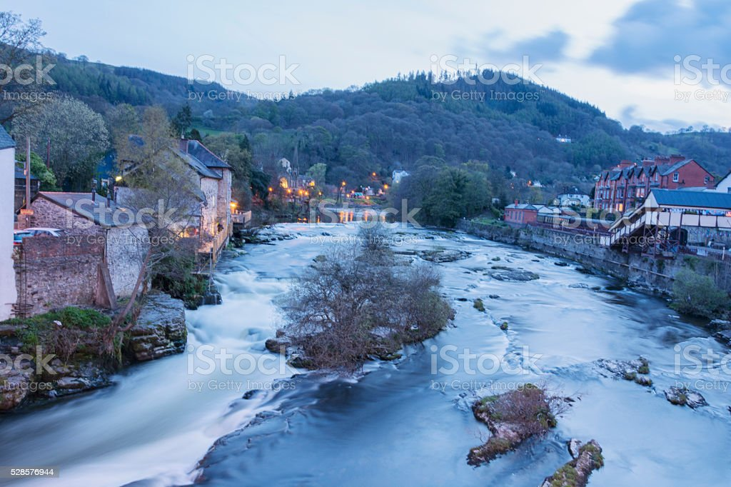 The river Dee, Llangollen Wales stock photo