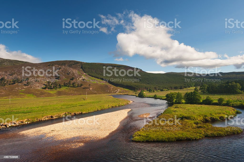 The River Dee near Braemar stock photo