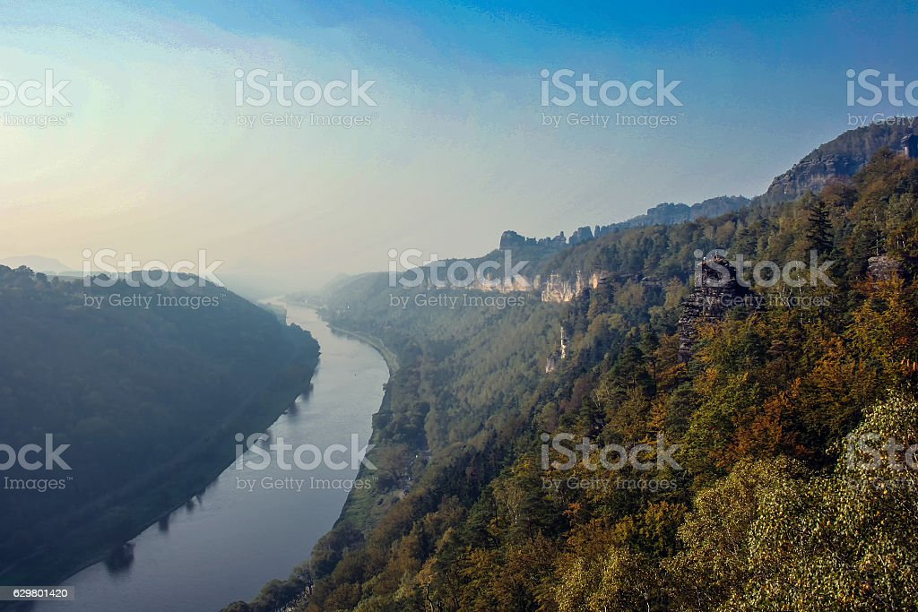 The river Elbe in eastern Germany stock photo