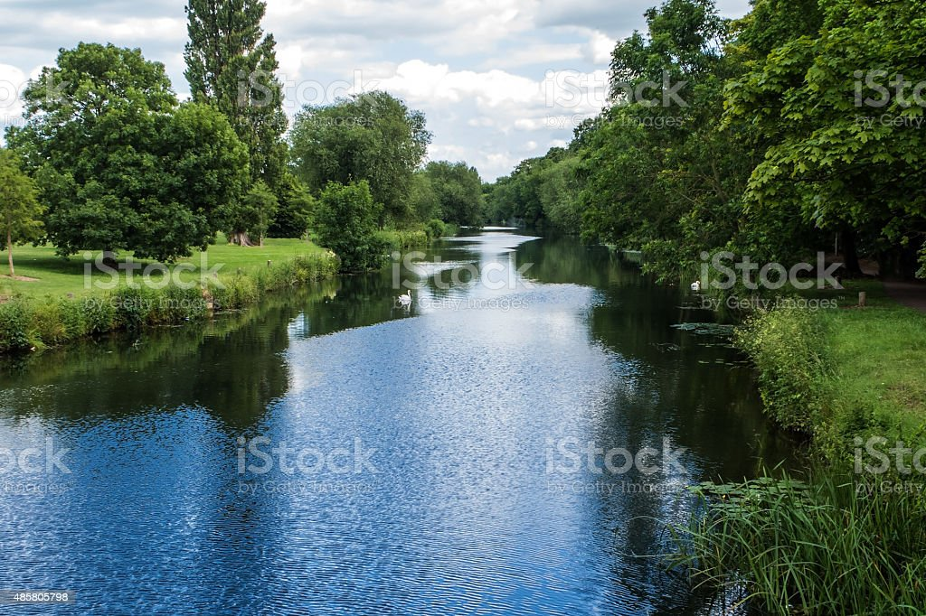 The River Great Ouse in Bedford stock photo