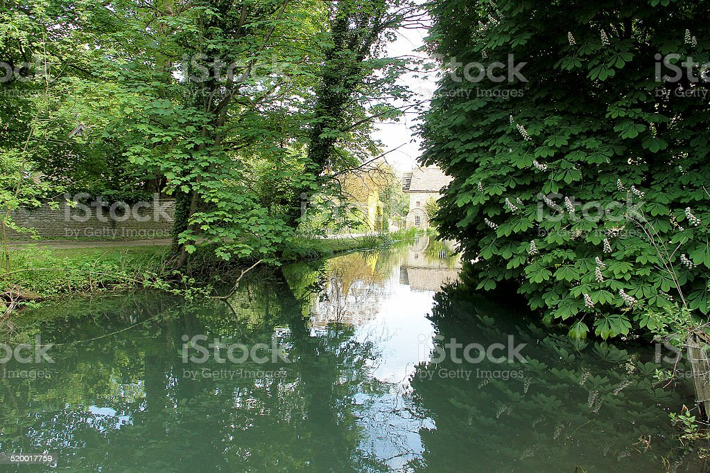 The River Leach in Little Farringdon, Lechlade stock photo
