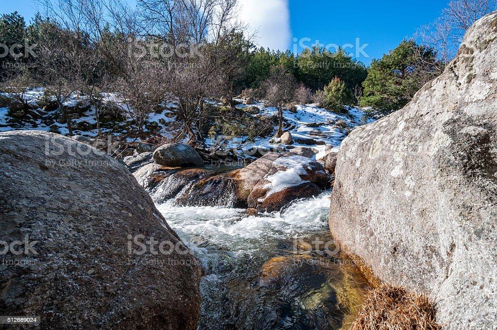 The River Manzanares stock photo