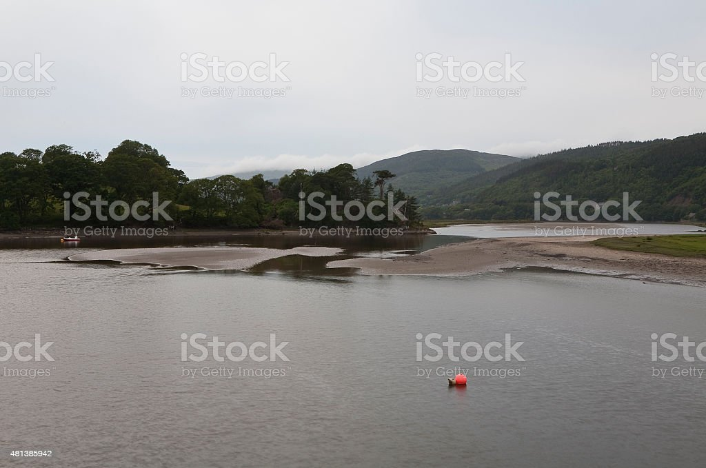 The River Mawddach at Dusk stock photo